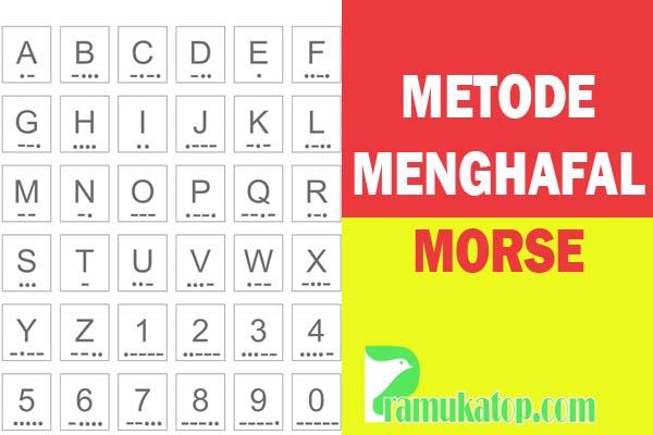 Metode Cara Mudah Menghafal dan Mengartikan Sandi Morse
