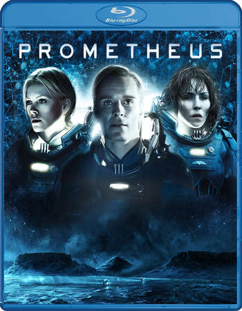 Poster Of Prometheus 2012 Dual Audio 720p BRRip [Hindi - English] Free Download Watch Online Worldfree4u