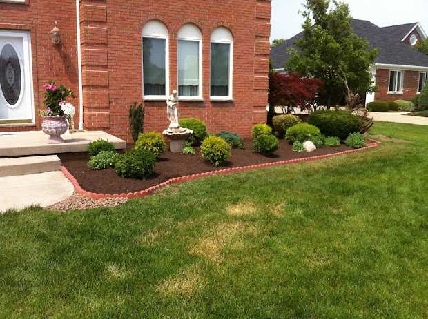modern brick landscape edging