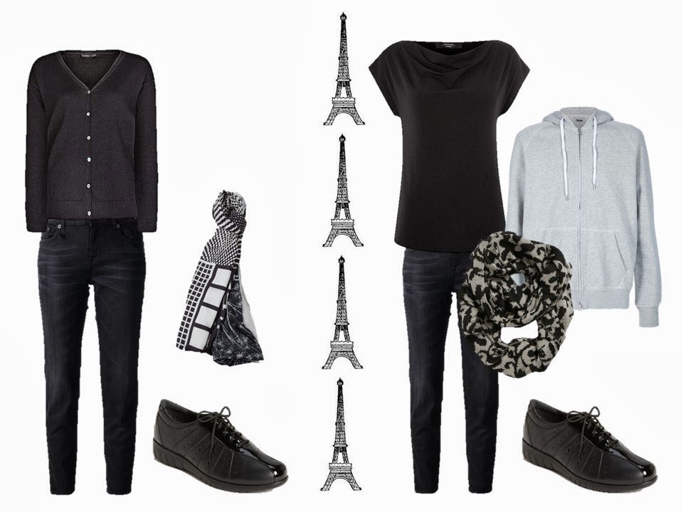 Casual, classic outfits to wear in Paris
