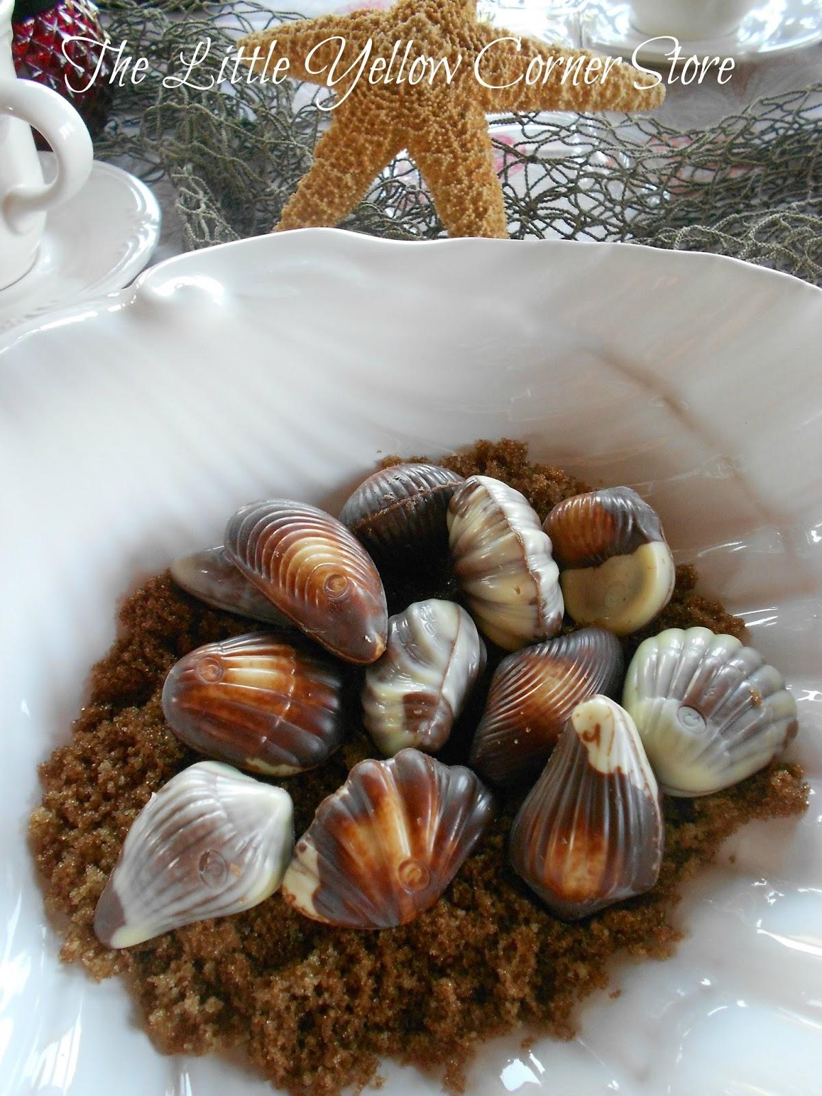 The Little Yellow Corner Store Sea Shell Tablescape