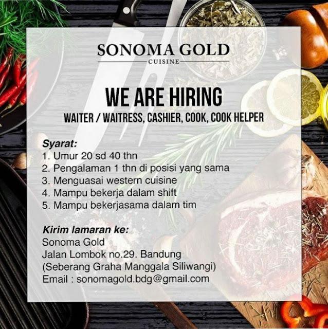 Lowongan Kerja Sonoma Gold Bandung