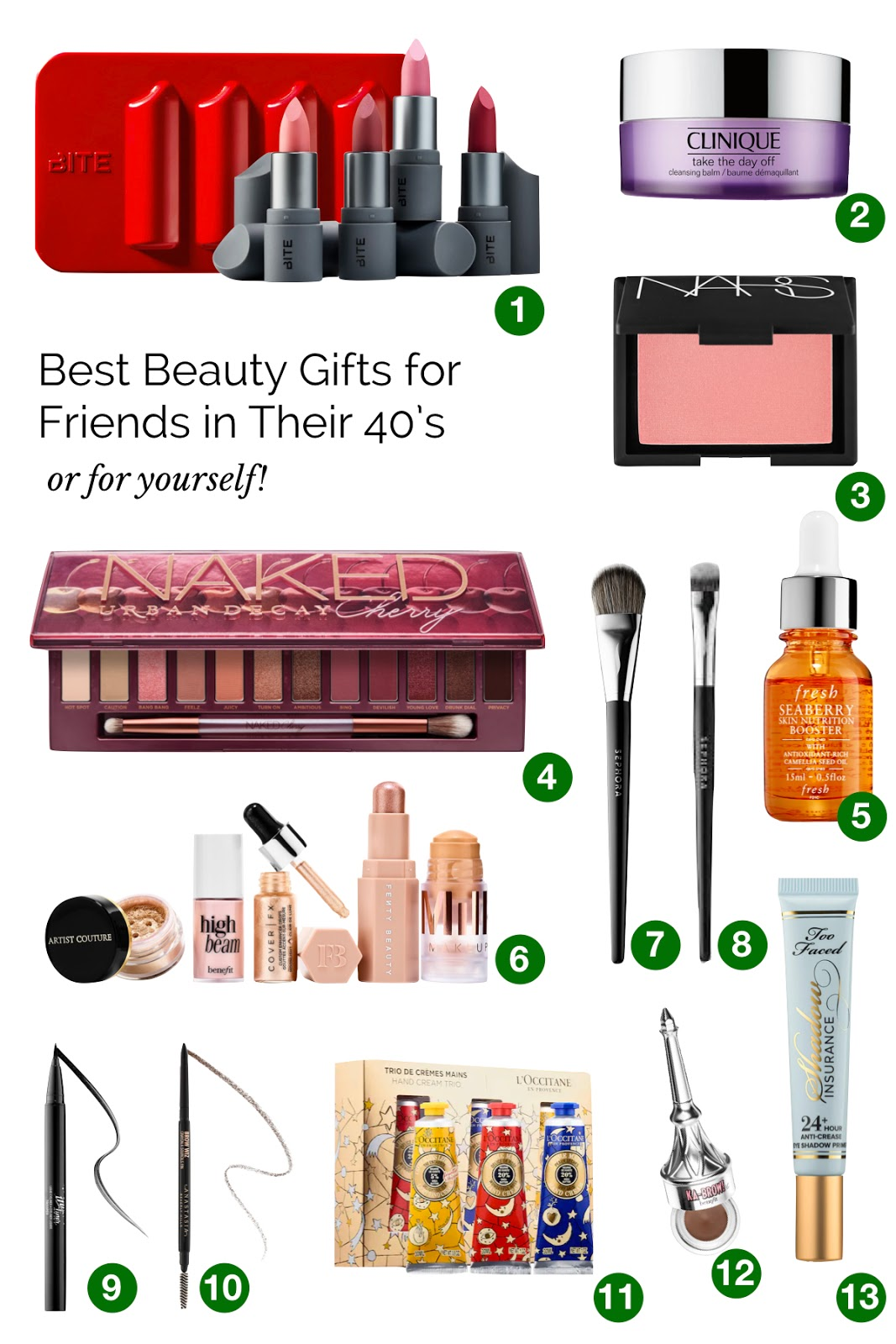 Best beauty products for women in their 40's from Sephora