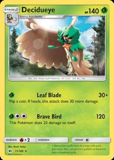 Decidueye Sun and Moon Pokemon Card