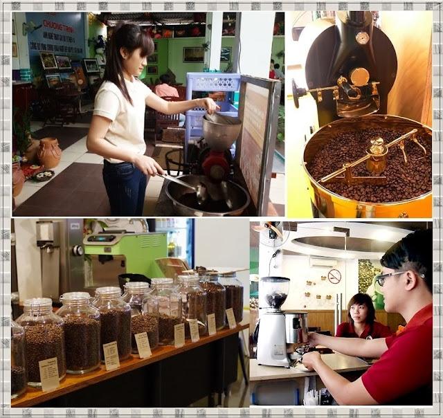 Các quán cà phê đã trang bị cà phê nguyên hạt và máy rang xay cà phê tại chỗ cho khách thưởng thức