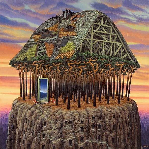 Teto do Mundo - Jacek Yerka e seu surrealismo fantástico ~ Polonês