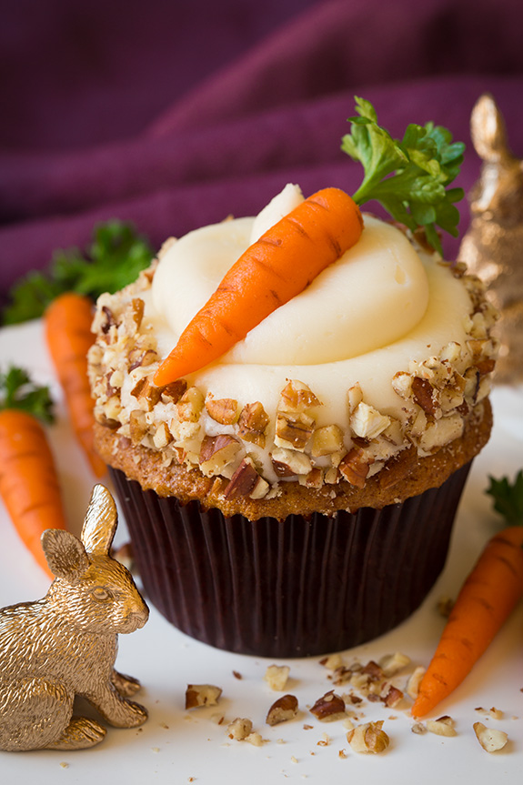 Carrot Cake Cupcakes with Cream Cheese Frosting // Cooking Classy