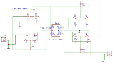 Audio Low Pass Filter LM324