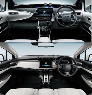 トヨタ ミライとホンダ クラリティの内装比較