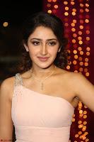 Sayesha Spicy Half Shoulder Cream Gown at Zee Telugu Apsara Awards 2017 18.JPG