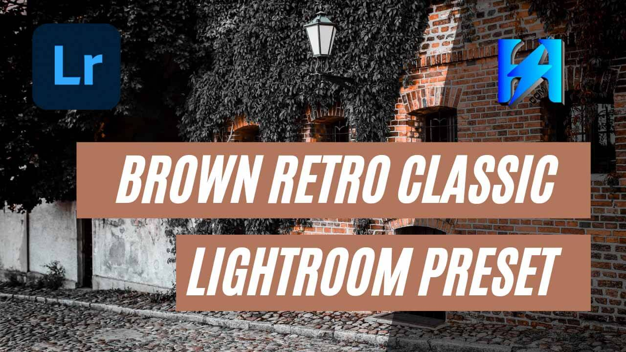 Brown Retro Classic Lightroom Mobile Preset