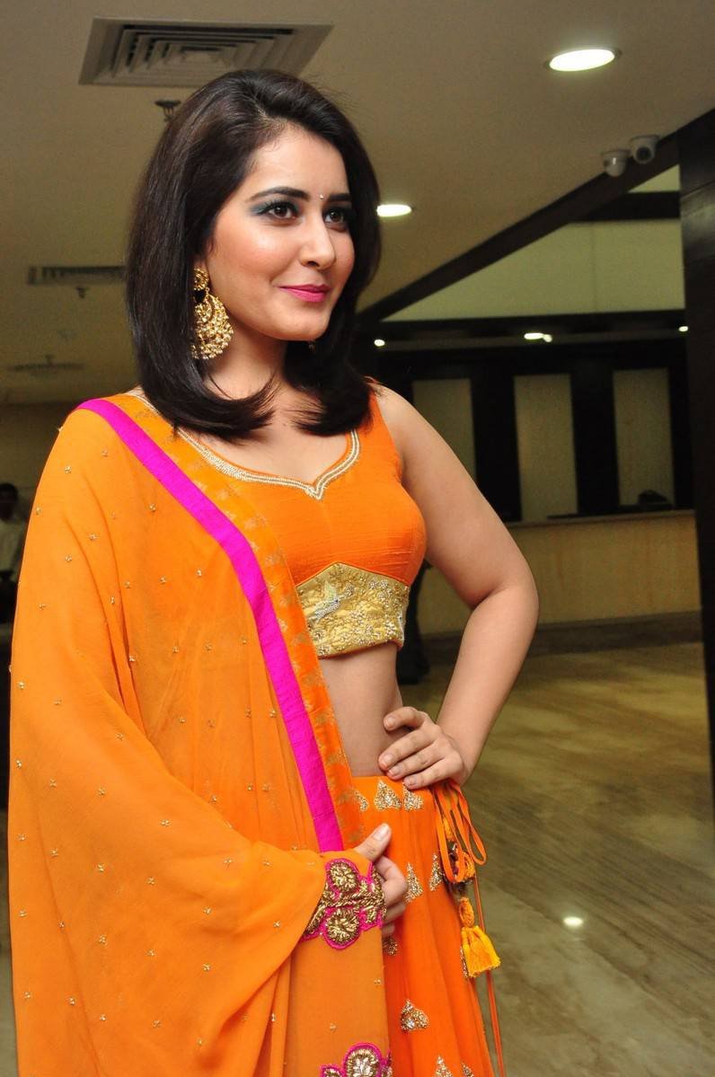 Rashi Khanna Beautiful Navel Show Photos