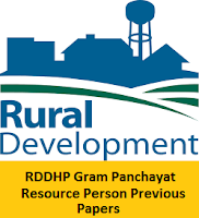 RDDHP Gram Panchayat Resource Person Previous Papers