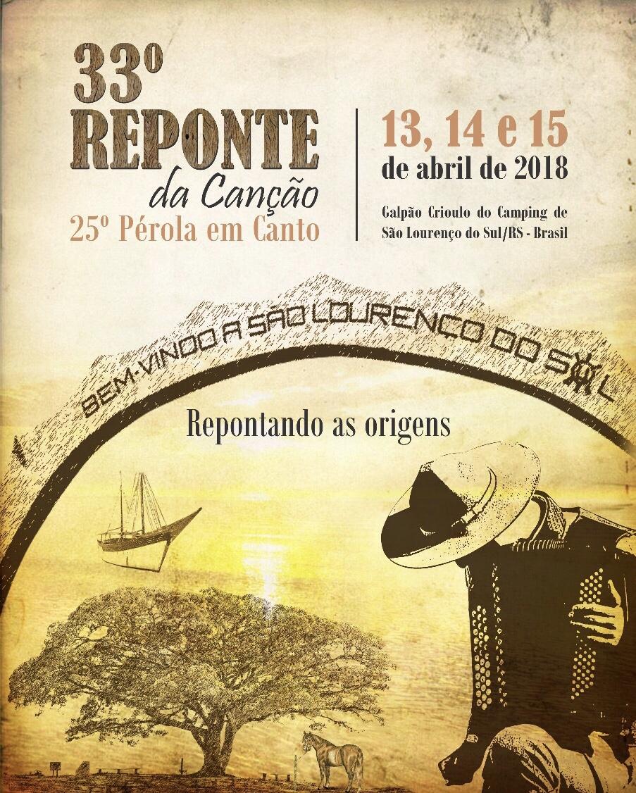 Vão até o dia 09 de março as inscrições para o 33º Reponte da Canção