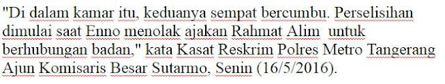 Pengakuan Pembunuh Sadis (gagang pacul Ditancap di kemaluan) Rahmat Alim (15) Awalnya Mencari Pisau Tapi Temukan Pacul