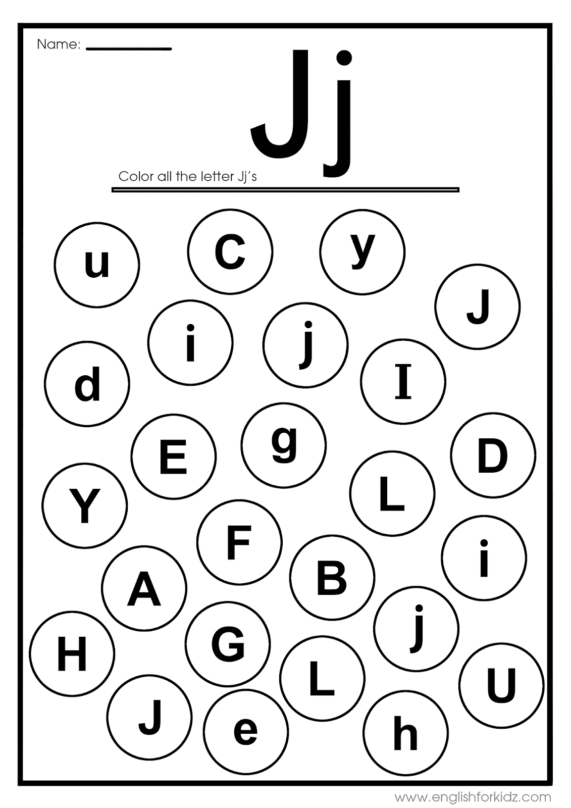 English For Kids Step By Step Letter J Worksheets Flash