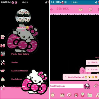 BBM Mod Hello Kitty Black V3.2.5.12 Apk