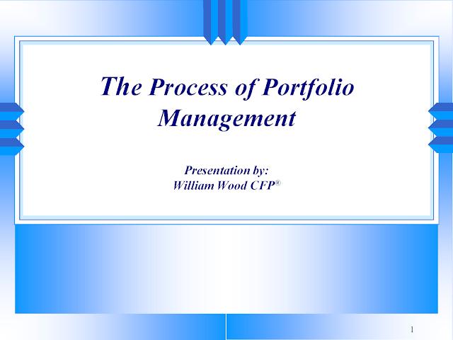 Download The Process of Portfolio Management pdf