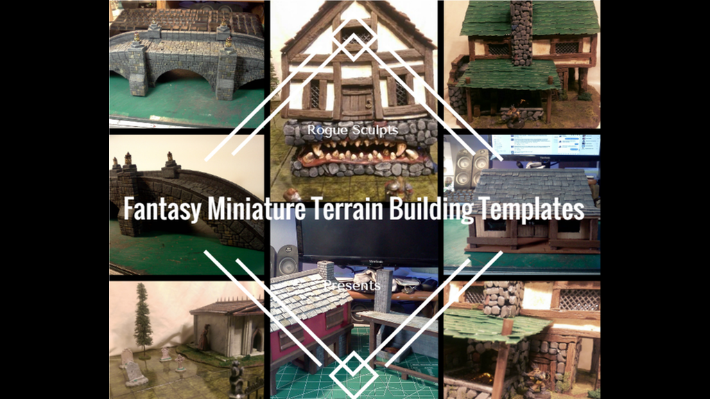 Tabletop Fix: Rogue Sculpts - Fantasy Terrain Templates Kickstarter