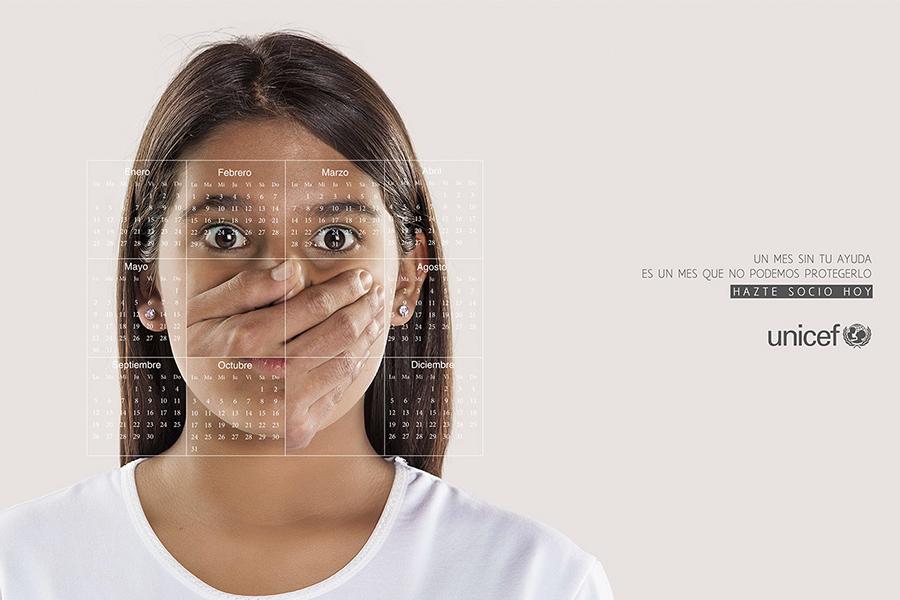"""UNICEF Chile """"Un mes sin tu ayuda, es un mes sin protegerlos"""""""
