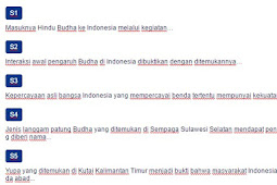 Contoh Soal Jalur masuknya Hindu Budha di Indonesia dan Tradisi Hindu-Buddha di Indonesia