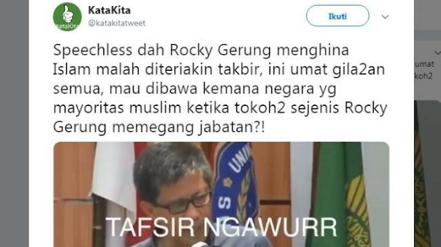 Rocky Gerung Jawab Tudingan Tafsir Ngawur Surah Al Baqarah Ayat 269