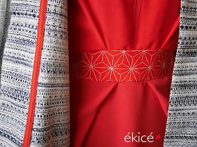 // créatrice - ékicé - Paris - robe - snood - écharpe - couleur - robe colorée - japonisant - tissu japonais - création - boutique créateur - artisanat - fabriqué en France - made in France - kimono - manteau - slow couture - séries limitées - petites séries - originale - marque française - vêtements - french brand - couture - création française - mode - fait avec amour //