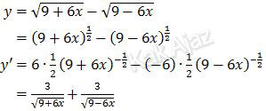 Turunan dari pembilang limit fungsi pecahan