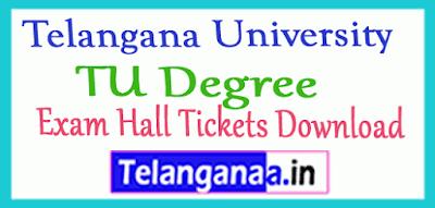 Telangana University Degree Exam Hall Tickets Download