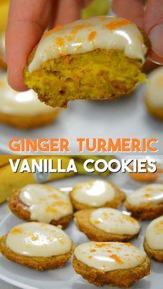 GINGER TURMERIC VANILLA COOKIES RECIPE #Ginger #Turmeric #Vanilla #Cookies #Dessert #Delecious #Dinner #Healthycookies
