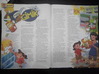 Foto halaman majalah bobo tentang Gimik