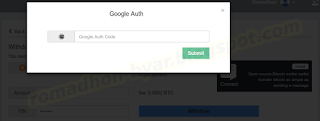 PIN Google Auth | Tutorial - Cara melakukan Withdrawal (WD) di Hashnest