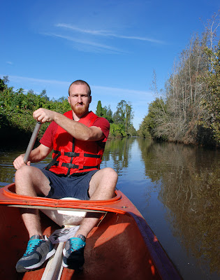 canoing at shortland wetlands