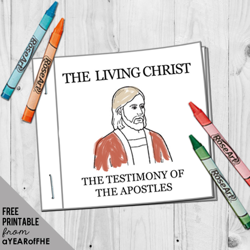 photograph regarding The Living Christ Free Printable called A 12 months of FHE: 12 months 02 / Lesson 15: The Dwelling Christ