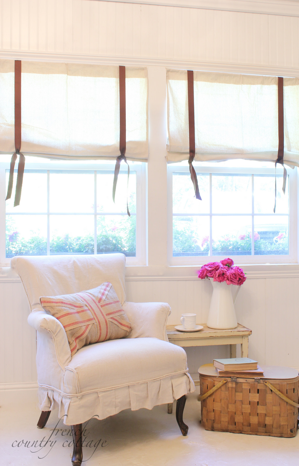 Diy drop cloth shades tutorial french country cottage solutioingenieria Choice Image