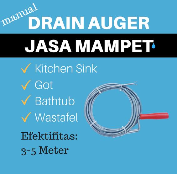 manual drain auger
