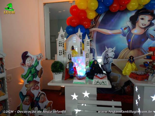 Decoração festa de aniversário infantil Branca de Neve
