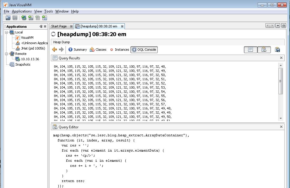 Lennart Schedin: How to extract data from a Java heap dump