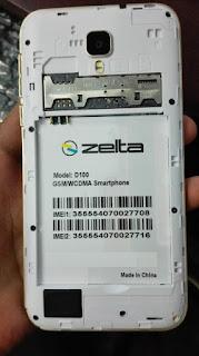 Zelta D100 Flash File download | MT6572 Stock Firmware File