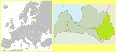 Mapa Letonia Latgale
