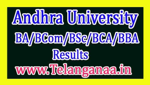 AU UG (BA/BCom/BSc/BCA/BBA) 3rd Sem Exam Results
