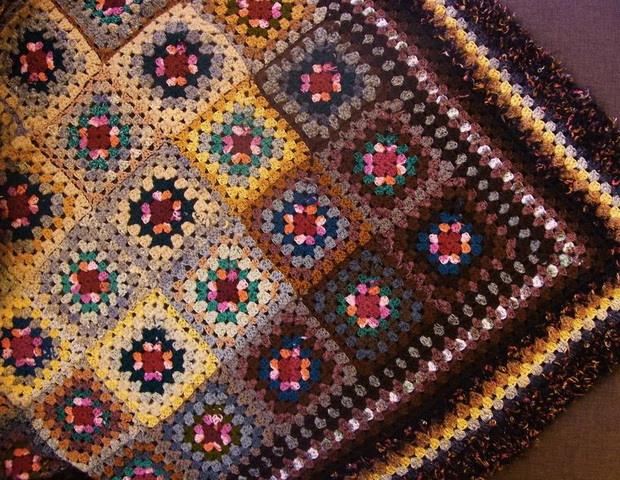 crochet granny squares throw blanket