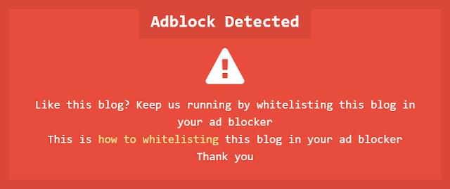 membuat notifikasi adblocker