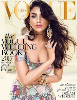Aditi Rao Hydari gorgeous on the cover page of Vogue India Wedding Book September 2017