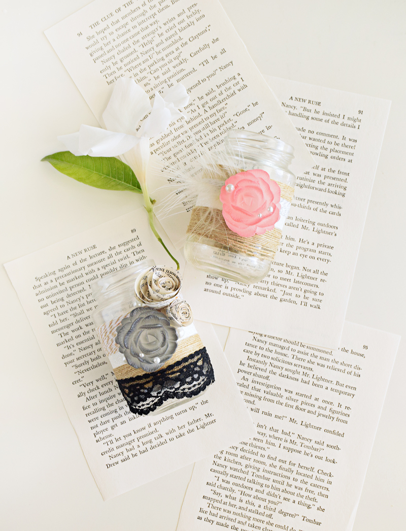 Gatsby Mason jars - wedding DIY crafts by Quiet Lion, quietlioncreations.com