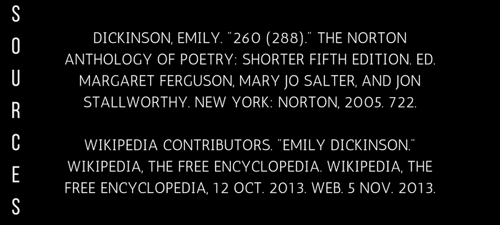 Analysis of Emily Dickinson's 260 (288) I'm Nobody! Who are you? (sources)