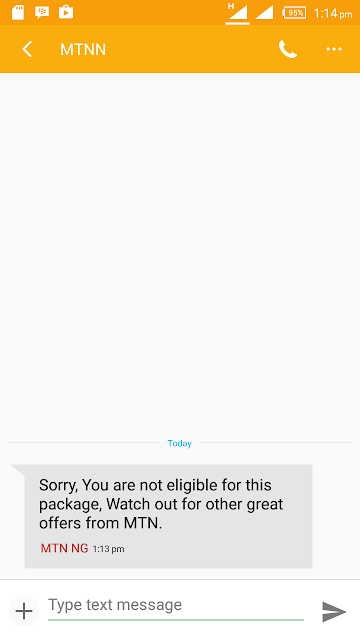 MTN N150 Plan Not Eligible