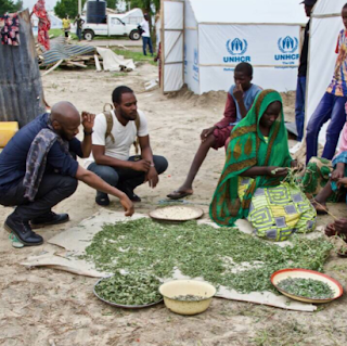 Photos of 2face Idibia at Borno State's IDP camp 3