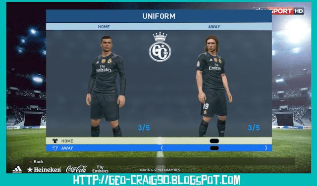 PES 2017 Real Madrid Kit 2017-2018