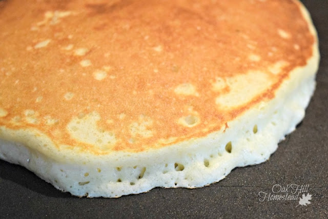 Fry the pancake until golden brown.